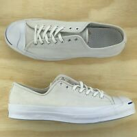 Converse Jack Purcell Signature White Leather Low Top Casual Shoe 151446C Sz 13