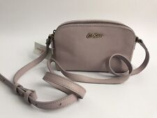 Cath Kidston Crossbody Mini Double Zip Bag - Leather - Lilac Purple - RRP £70