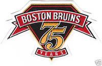 BOSTON BRUINS 75TH ANNIVERSARY PATCH RARE