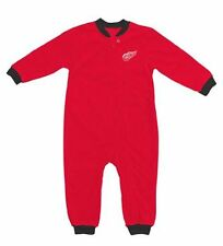 NEW Detroit Red Wings Toddler 4T Pajamas Sleeper Coverall New RED