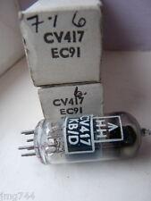 CV417 EC91 MULLARD    NOS VALVE TUBE 1 PC F
