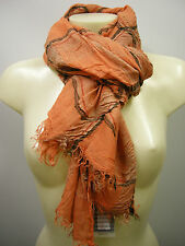 Pashmina sciarpa scarf SWEET YEARS art.LF68 colore 4 arancio orange Italy