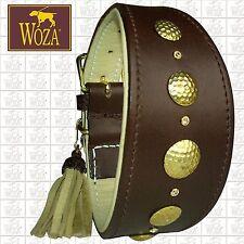 WOZA Premium Windhund Halsband Vollleder Greyhound Rindnappaleder Collar HG5179
