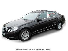 Mercedes W212 E Class Chrome Stainless Steel B Pillar Trim Covers Saloon Sedan