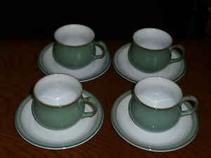 Denby Regency Green Cup and Saucer x 4