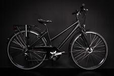 "28"" Zoll Alu MIFA Damen Trekkingbike Fahrrad Shimano 21 Gang Nabendynamo schwarz"