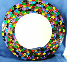 "Mirror Mosaic Glass 16"" hand made wall mount ""Confetti"" Home Decor (916)"