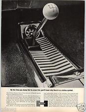 1964 PAPER AD Classic Hurst Shifter Knob Ball Center Console Car Auto Automobile