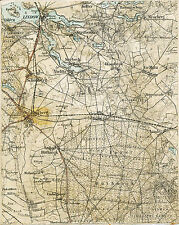 Fehrbellin Linum Königshorst 1910 Teil-Karte/Ln. Hakenberg Karwesee Brunne Luch