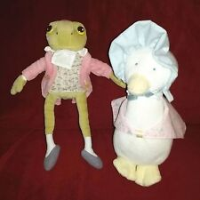 Vintage Eden Frederick Warne JEMIMA PUDDLE DUCK & Kids Preferred JEREMIAH FROG