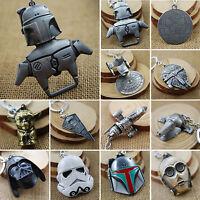 Star Wars Metal Keychain Keyrings Darth Vader Yoda Clone Trooper Collection Gift
