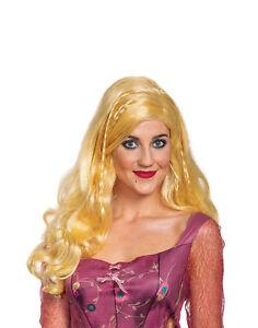 Sarah Sanderson Womens Adult Hocus Pocus 90s Movie Witch Blonde Costume Wig