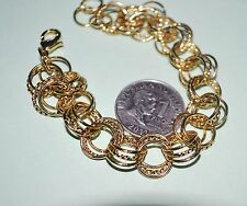 14kt GOLD FILLED Bracelet from Israel - 8.5 inches adjustable #B0011