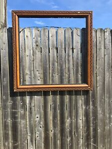 Large Wood Picture Frame Antique Stunning  35x35
