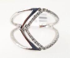 White Gold Diamond Stackable Fashion Ring Anniversary Wedding Ladies Band