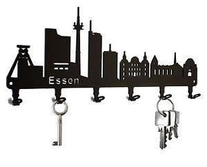 Schlüsselbrett Essen - Skyline - Schlüsselhaken, Schlüsselboard, Metall, schwarz