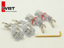 4 x Original WBT0681AG Silver Sandwich Spade Plug Connector Speaker Cable