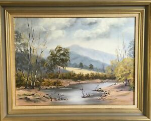 """OVENS VALLEY"" VERY LARGE, BEAUTIFUL AUSTRALIAN LANDSCAPE ORIGINAL BY MEG HERES"