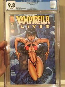 Vampirella Lives #3 CGC 9.8 NM/MT J. Scott Campbell Cover Amada Conner Art L@@K!