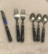 Gibson Stainless Silverware CASUAL LIVING Cobalt Teaspoon & Dinner Forks & Knife