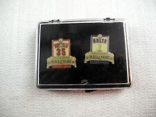 2005 TEXAS RANGERS HALL OF FAME INDUCTION PIN SET- MARK HOLTZ & JOHN WETTLAND