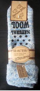 Damen ABS Thermo Wollsocken Umschlag Kuschelsocken extrem warm blau 35 bis 42