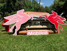 Antique Vintage Old Look Mobil Left Facing Pegasus Sign!