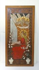 Antique Painting Panel Wood Painting Popular Art