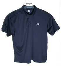 Nike Navy Blue Swoosh Logo Polo Shirt Men's Xl Short Sleeve