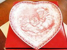 Johnson Bros TWAS THE NIGHT BEFORE CHRISTMAS Heart Dish Serving Tray - NEW/BOX!