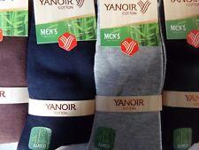 lot 6 a 12 paires de chaussettes homme uni en bambou 98% simple et confortable