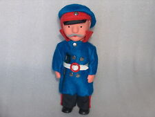 Vintage Doll In Uniform Of Police Military Officer,East Germany/Gdr/Ddr,1950-70
