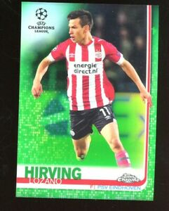 2019 Topps Chrome UEFA Champions League #89 Hirving Lozano Green Refractor 90/99