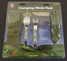 New Camping Hunting Multi Tool Kit Knife Spoon Fork Untensil Kit