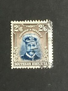 DD939 SOUTHERN RHODESIA 1924 Admiral 2/6d blue and sepia SG 13 used