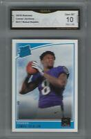 2018 LAMAR JACKSON DONRUSS RATED  ROOKIE CARD #317 GRADED GEM MINT 10 CENTERED