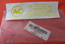 1962 Air Cleaner Fuel Injection AC TYPE A145C Instructions Decal Water Based