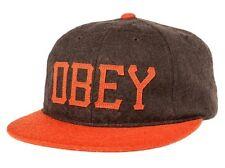 OBEY HANK BROWN/ORANGE STRAPBACK HAT/CAP 100% AUTHENTIC BRAND NEW w/TAG!!