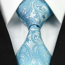 SALE - Turquoise Blue Green Teal - Mens Tie - Paisley Floral Silver Gift Necktie
