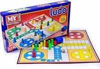 MY Ludo Board Game Traditional Kids Family Fun Adult Toy Full Size Game Gift New