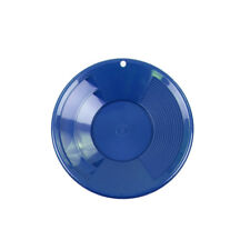 """8"""" BLUE Plastic Gold Pan w/ Shallow & Deep Riffles for Gold Grospecting"""