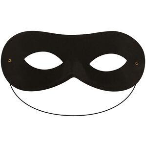 MASQUERADE DOMINO FACE EYE MASK BLACK SUPER HERO PARTY FANCY DRESS ACCESSORY