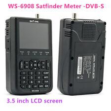 SATLINK Digital Satellite Finder Meter WS-6908 DVB-S FTA SAT Dish 3.5'' LCD QPSK
