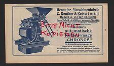 HENNEF, Werbung 1915, C. Reuther & Reisert mbH Maschinen-Fabrik Kohlenwaage Chro