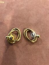 Gold Double Hoop Women's Earrings