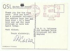 Swiss Radio International, Switzerland postcard (not a QSL card) 1980