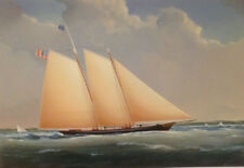 SCHOONER YACHT AMERICA - giclee on canvass - del Piano