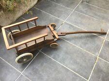 Détails sur Chariot a boeufs jouet en bois vintage sculpté main vers 194050
