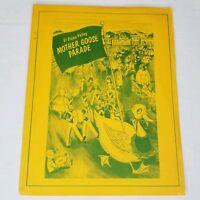 Vintage San Diego California 1964 Mother Goose Parade Program El Cajon Valley