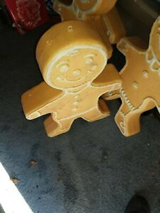 """VINTAGE 24"""" UNION GINGERBREAD CHRISTMAS BLOW MOLD  DOUBLE SIDED"""